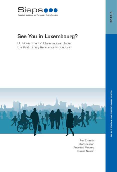 See You in Luxembourg? EU Governments´ Observations Under the Preliminary Reference Procedure